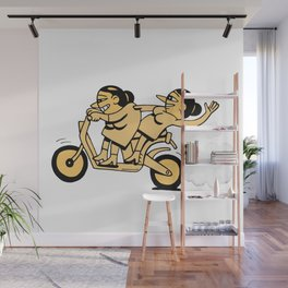 Bikers Goin For It Wall Mural