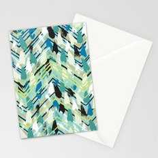 Chevron print with colorful stripes and lines Stationery Cards