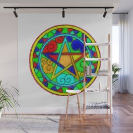 Energized Pentacle Wall Mural
