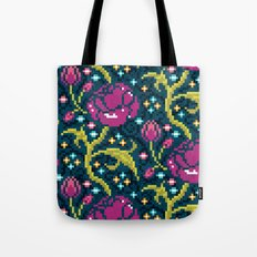 Pixel Flora Tote Bag