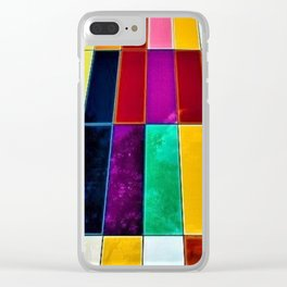Abstract colorful modern building Clear iPhone Case