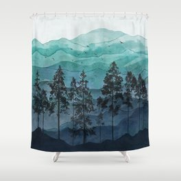 Mountains II Shower Curtain
