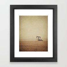 Digging for Black Gold Framed Art Print