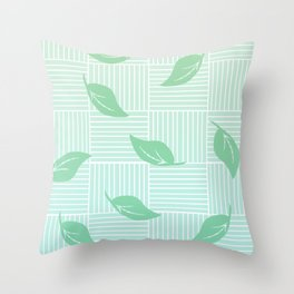 Floating Leaves Throw Pillow