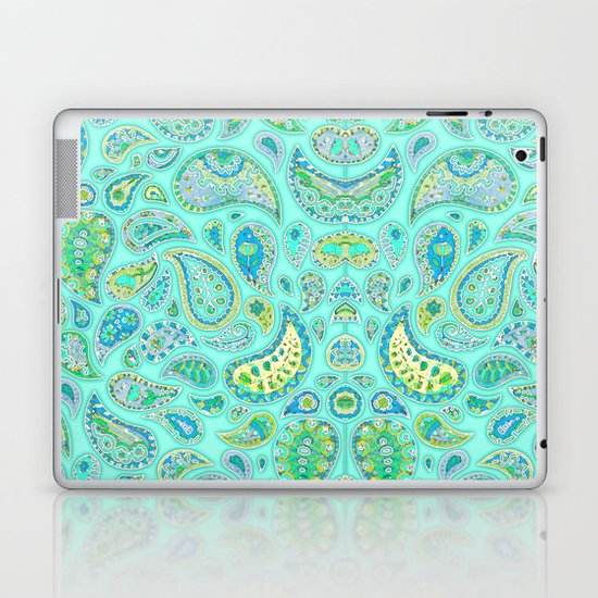 Lemon, Mint and Lime Paisley Laptop & iPad Skin