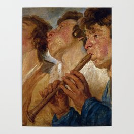 "Jacob Jordaens ""Three Musicians"" Poster"