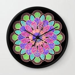 Glam Mandala Wall Clock