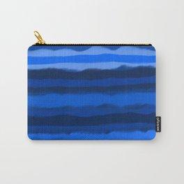 Hazy Blue Stripes Carry-All Pouch