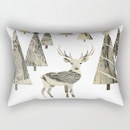 Winter Woods, collage Rectangular Pillow