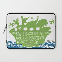 Noahs Ark - Bible - And Noah Did According to All that God had Commanded him Laptop Sleeve