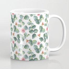 Gorgeous Eucalyptus Flowers Leaves Pattern Coffee Mug
