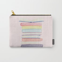 Pastel Book Stack Carry-All Pouch