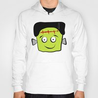 frankenstein Hoodies featuring Frankenstein by Jessica Slater Design & Illustration