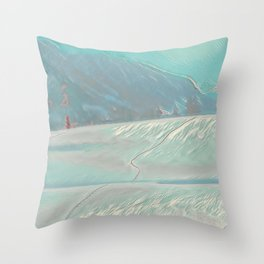 Footsteps IV Throw Pillow
