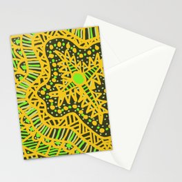 Doodle 16 Yellow Stationery Cards
