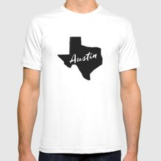 Austin, TX Mens Fitted Tee MEDIUM White