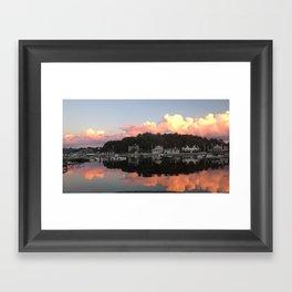Sunset Over Cohasset Harbor Framed Art Print