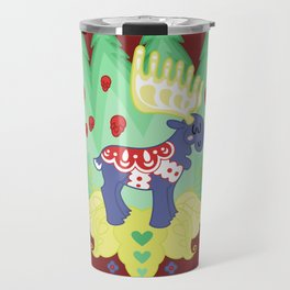 Blue Valley Moose - swedish dala-horse Travel Mug