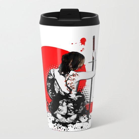 Trash Polka - Female Samurai Metal Travel Mug