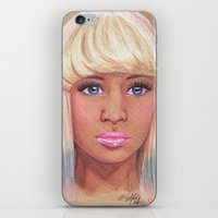 nicki iPhone & iPod Skins featuring Onika by Angelica