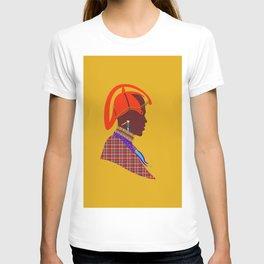kenyan massai warrior artwork atalanta creatives design T-shirt