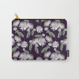 White flowers. Carry-All Pouch