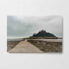 A Misty Morning at St. Michael's Mount Metal Print