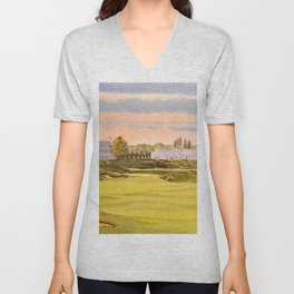 Whistling Straits Golf Course 9th And 18th Unisex V-Neck