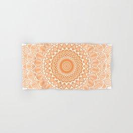 Orange Tangerine Mandala Detailed Textured Minimal Minimalistic Hand & Bath Towel