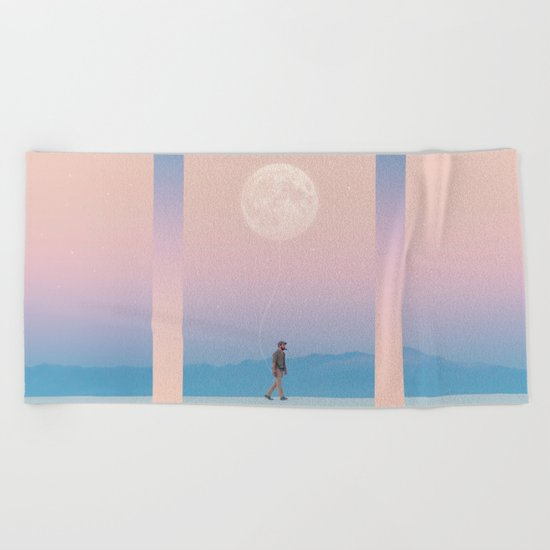 Moon Walker Beach Towel