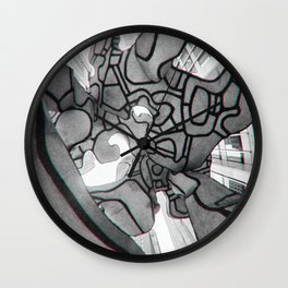 Group of four trees Wall Clock