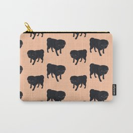 Willie the Pug-Orange Background Carry-All Pouch