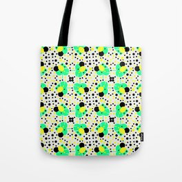 Bubbly pattern with leaves Tote Bag