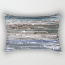 Black Coral abstract watercolor Rectangular Pillow