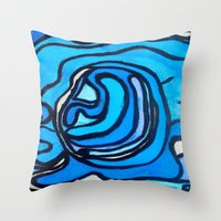 shell Throw Pillows featuring Shell by Abstract Jack95