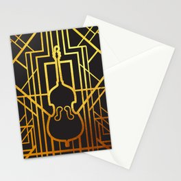 Art Deco Contrabass Stationery Cards
