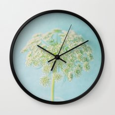 Lace in Blue Wall Clock