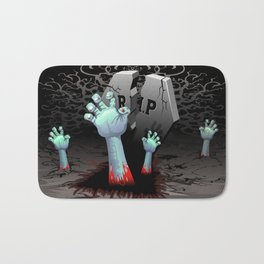 Zombie Hands on Cemetery Bath Mat