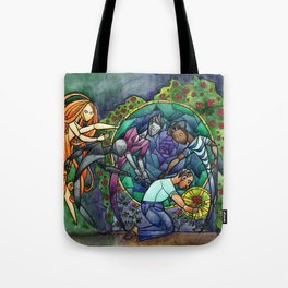 The Rose Maze Tote Bag