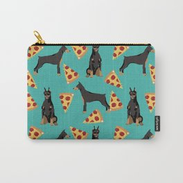 Doberman Pinscher pizza food slice foodie dog lover doberman dog owner custom dog breed Carry-All Pouch