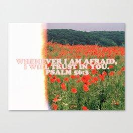 Psalm 56:3 Bible Verse Visual Canvas Print