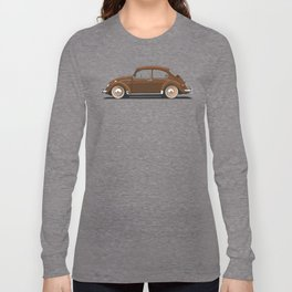 Legendary Classic Brown Bug Vintage Retro Cool German Car Wall Art and T-Shirts Long Sleeve T-shirt