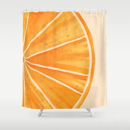 Orange You Happy Shower Curtain