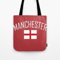 manchester Tote Bags featuring Manchester by Earl of Grey