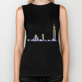 New York New York skyline retro 1930s style Biker Tank