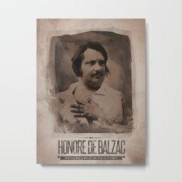 Honore de Balzac Metal Print