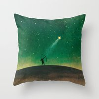 archer Throw Pillows featuring Stars Archer by Rowe