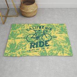 California Bicycle Ride Rug