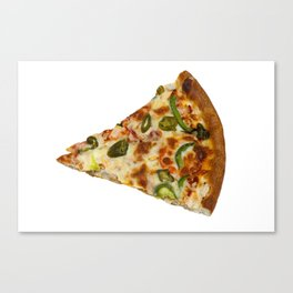 Spicy Pizza Slice Canvas Print