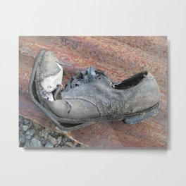 If this shoe could talk! Metal Print